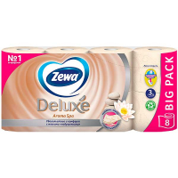 Туалетний папір Zewa Deluxe Aroma Spa 8шт