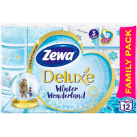 Туалетний папір Zewa Deluxe Winter Wonderland, 12 шт