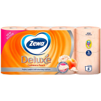 Туалетний папір Zewa peach Deluxe 8шт