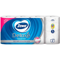 Папір туалетний Zewa deluxe Delicate Care 8шт 3 шари