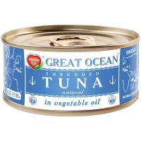 Тунець Great Ocean подріблений у рослинній олії ж/б 185мл