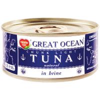 Тунець Great Ocean цілий у власному соку ж/б 185мл