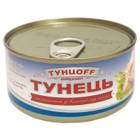 Тунець Тунцоff салатний у власному соку 170г