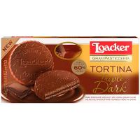 Вафлі Loacker Tortina потрійний шоколад 125г