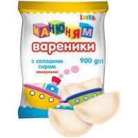 Вареники Laska Манюням с к/м сиром 900г