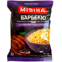Вермішель Мівіна Барбекю зі смаком качки барбекю 59,2гр