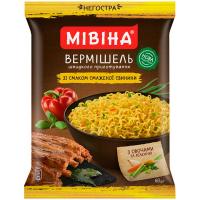 Вермішель Мівіна зі смаком смаженої свинини 60г