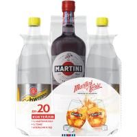 Вермут Martini Rosso 1л +тонік Schweppes 2*0,5л