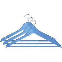 """Вішалки для одягу з нарізами 44,5х23,0х1,2см, блакитні, ТМ """"МД"""", Китай"""