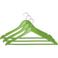 """Вішалки для одягу з нарізами 44,5х23,0х1,2см, зелені, ТМ """"МД"""", Китай"""