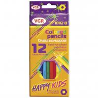 Олівці 12 кольорів у наборі, арт. 10112B, VGR Італія