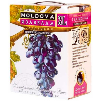 Вино Alianta Vin Isabella Moldoveneasca Ізабелла червоне напівсолодке 9-11% 3л B&B