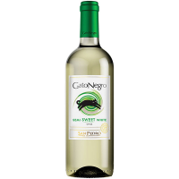 Вино Gato Negro San Pedro Semi Sweet White напівсолодке біле 12% 0,75л