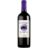 Вино Gato Negro San Pedro Semi Sweet Red напівсолодке червоне 10-13% 0,75л