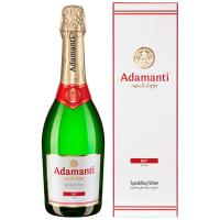 Вино ігристе Adamanti брют біле 0,75л в коробці