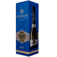 Вино ігристе Aznauri Brut брют біле 10-13% 0,75л короб