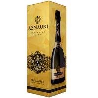 Вино ігристе напівсолодке біле Aznauri 0,75л