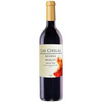 Вино Las Chilas Reserva Merlot червоне сухе 0,75л