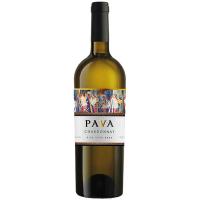 Вино Pava Chardonnay біле сухе 0,75л