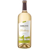Вино Коблево Шардоне сухе, біле 1,5л