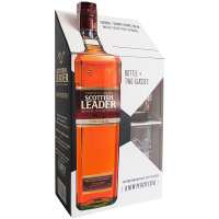 Віскі Scottish Leader Original 40% 0,7л +2 стакана