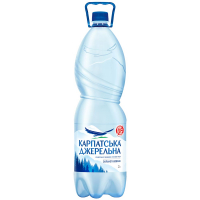 Вода мінеральна Карпатська джерельна сильн/газ 2л