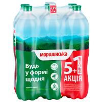 Вода мінеральна Моршинська сл/г 1,5л 5+1 ПЕТ
