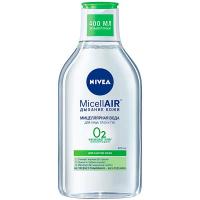 Вода міцелярна Nivea матуюча для жирної шкіри 3в1 400мл