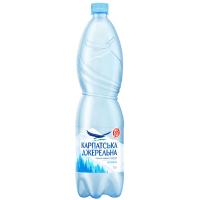 Вода мінеральна Карпатська джерельна негазована 1,5л