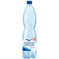 Вода мінеральна Карпатська джерельна сильн/газ 1,5л