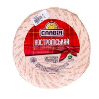 Сир ММ Костромський 45% Славія ваговий/кг
