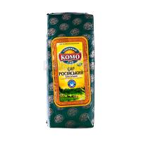 Сир ММ Російський 50% Дубномолоко КОМО ваговий/кг