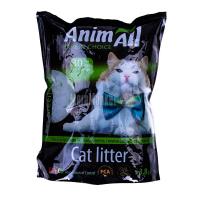 Наповнювач Animall для котів силікагелевий зелений3,8кг х6
