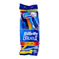 Бритва Gillette Blue II Plus одноразова 8+2шт.