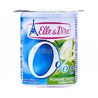 Десерт Elle&Vire молочний Зелене яблуко 0% 125г х16