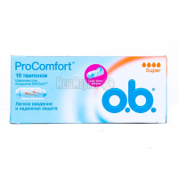 Тампони OB Pro Comfort 16шт х68
