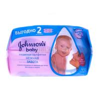 Серветки Johnsons Baby дитячі Лагідна турбота 112шт. х6