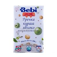 Каша Bebi Premium молочна гречка курага яблуко 200г х18
