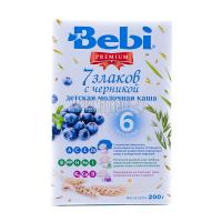 Каша Bebi 7 злаків чорниця 200г х12