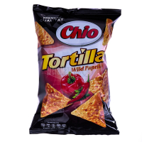 Чіпси Chio Tortillas зі смаком паприки та перцю 125г