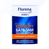 Бальзам після гоління для нормальної шкіри обличчя Florena Men Заспокоєння і Догляд, 100 мл