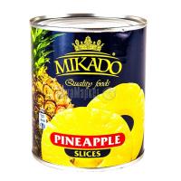 Ананас Mikado кільца в сиропі 850мл ж/б