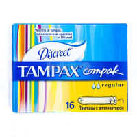 Тампони Tampax Compak regular 16шт х6