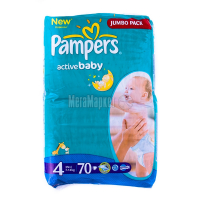 Підгузники Pampers Jumbo Pack Maxi 7-14кг 70шт х6