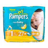 Підгузники Pampers New Baby Newborn 2-5кг 27шт х6