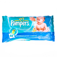 Серветки Pampers Baby Fresh дитячі вологі Алое 64шт х6