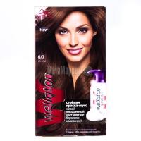 Фарба-мус для волосся Wellaton стійка 6/7 шоколад