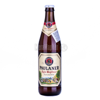Пиво Paulaner Hefe-Weibbier 0,5л с/б