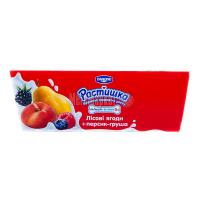 Десерт Danone Растишка Лісові ягоди+персик-груша 6*45г х6