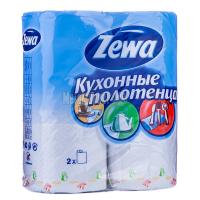 Рушники паперові рулонні Zewa Білі, 2 шт.